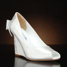 DAVID TUTERA BLUE Wedding Shoes and BLUE Dyeable Bridal Shoes WHITE, IVORY: