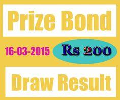 Bond draw Rs 200 final lists