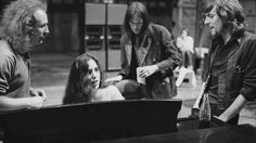 Laura Nyro with David Crosby, Neil Young and Graham Nash in Los Angeles. photo by Henry Diltz