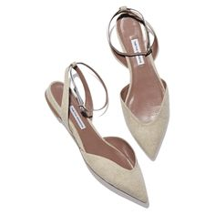 natural pointed toe flat