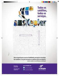 Anúncio ed. dez 2012 MundoGEO - caça palavras AMS Kepler