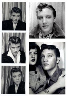 Elvis Presley    Vintage Photo Booth Snaps of Famous People.