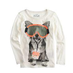 Who says dogs can't ski? We love this tee for its eye-popping details and, well, it's ski-goggle-and-lift-tag-wearing dog. Sure to look great, on or off the slopes. <ul><li>Cotton.</li><li>Long sleeves.</li><li>Machine wash.</li><li>Import.</li></ul>