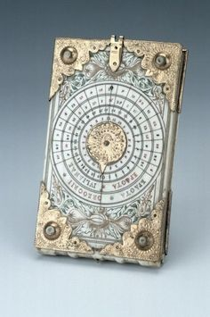 "themagicfarawayttree:  Diptych Dial, by Thomas Tucher, Nuremberg, c. 1620. ""Diptych dials are portable instruments, usually made from ivory. They were mainly produced in Nuremberg from the late fifteenth century onwards. They are based on the principles of vertical and horizontal sundials."" Creation Art, Sundial, Compass, Steampunk, Book Art, Cabinet Of Curiosities, Objet D'art, Book Binding, Inventions"