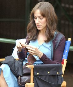 Famous People Knitting  Sarah Jessica Parker