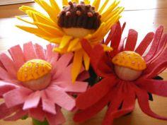 Tutorial for little waldorf wood/felt flower faires.  So adorable.