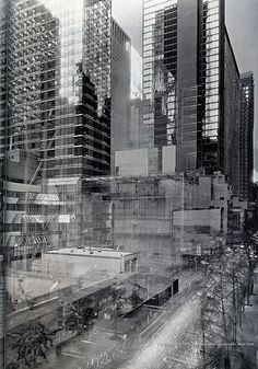 Photograph captured over years with an open camera shutter showing the construction of a building! Wouldn't this make a beautiful large print for a wall?