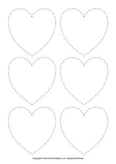 Trace Lines and Color Picture Worksheets - Preschool and Kindergarten Valentine Theme, Valentine Day Crafts, Shape Tracing Worksheets, Tracing Shapes, Free Shapes, Valentines Day Activities, Pre Writing, Preschool Crafts, Preschool Shapes