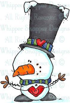 WHIPPER SNAPPER - Mini-Me Love - Snowmen Images - Snowmen - Rubber Stamps - Shop