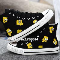 Hand painted black canvas shoes cartoon The Simpsons men women http://it.aliexpress.com/store/product/Hand-painted-black-canvas-shoes-cartoon-The-Simpsons-men-women-students-high-top-graffiti-flats-fashion/1768014_32582261669.html
