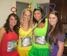 Homemade Teletubbies Group Costume: My Junior year of College at the University of San Francisco, my friends and I thought up the best homemade Teletubbies Group Costume. We spray painted