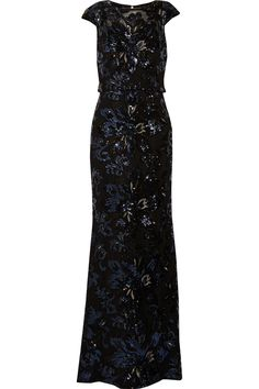 BADGLEY MISCHKA Sequined Tulle Gown. #badgleymischka #cloth #gown Tulle Gown, Badgley Mischka, Lbd, Fashion Ideas, Gowns, Formal Dresses, Chic, Clothing, Shopping