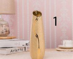 Elegantná porcelánová váza v zlatej farbe 1 Bathroom Hooks, Colors