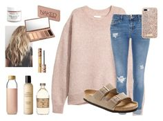 """""""So I am now single"""" by preppy-lexi-1013 ❤ liked on Polyvore featuring Kristin Ess, River Island, Kate Spade, Urban Decay, Soma, Birkenstock, tarte and John Masters Organics"""
