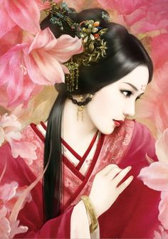 Chinese art - ✯ http://www.pinterest.com/PinFantasy/arte-~-la-mujer-en-el-arte-chino-women-in-chinese-/: Chineseart, Art Chinese Oriental Art, Girl, Chinese Art, Beauty, Painting, Asian Art, Women
