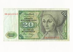 German banknotes 1000 DM Deutsche Mark banknote, issued by