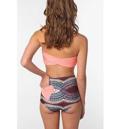Not crazy about the colors/design, but I love the proportions! High-waisted bikinis are so gorgeous!