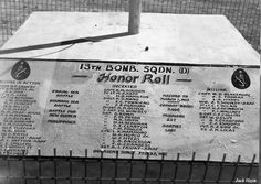 A memorial to fallen 13th Bomb Squadron, USAAF 3rd Bomb Group personnel at an airfield at Port Moresby, Australian Papua, 1943 Photographer   Jack Heyn Source   jackheyn.yolasite.com Added By C. Peter Chen
