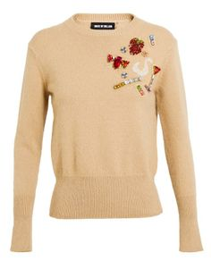 HOUSE OF HOLLAND | Embellished Cashmere Sweater with martini glass and cigarette.