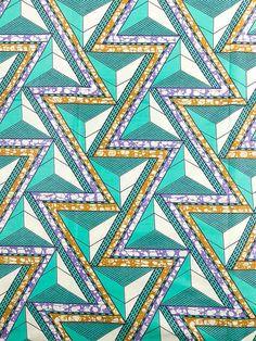 African Fabric Super Wax Print loving this zig zag print www.petittribe.com