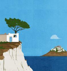 Patmos, Illustration by SHOUT ::: www.dutchuncle.co.uk/shout-images
