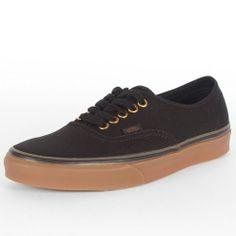 Vans - Unisex Authentic Shoes In Black/Rubb, Size: 6.5 D(M) US Mens / 8 B(M) US Womens, Color: Black/Rubber