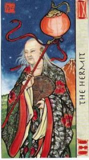 Feng Shui Tarot: IX - The Hermit   by Peter Paul Connolly & Eileen Connolly
