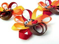Turkey Clippie Turkey Clip Turkey Ribbon