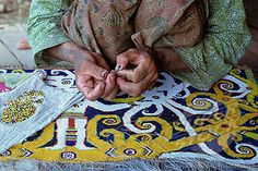 Kenyah beadwork, Kalimantan, Indonesia, Southeast Asia, Asia