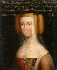 Anonymous  CountessMary of Burgundy (died 1462)  Legitimate daughter of Duke Philip the Good, wife of Pierre de Bauffremont first Charny and Seneschal of Burgundy
