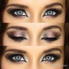 Brown Eyeshadow Looks For Blue Eyes Learn how to pop your beautiful eyes with this Brown eye makeup for blue eyes ideas. From daytime to night time makeup, there's one for you! – Das schönste Make-up Blue Eye Makeup, Eye Makeup Tips, Smokey Eye Makeup, Makeup For Brown Eyes, Beauty Makeup, Hair Makeup, Makeup Ideas, Makeup Tutorials, Makeup Eyeshadow