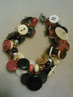 mouse charm bracelet red yellow white and by CRAZYBUTTONDESIGNS13, $10.00