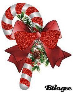 Candy Cane Glitter Gifs | Feliz Navidad
