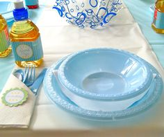 blue and white party theme - Google Search
