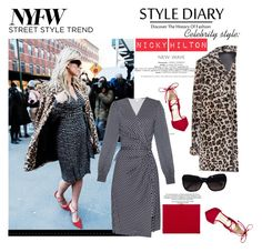 """NYFW day 3"" by lushxoxo ❤ liked on Polyvore featuring Nicky Hilton, Diane Von Furstenberg, Miu Miu, Steve Madden, Lipsy, Chanel, women's clothing, women, female and woman"