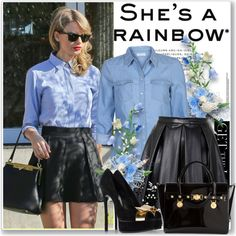 """""""Get The Look:Taylor's Leather Skirt"""" by antemore-765 on Polyvore"""