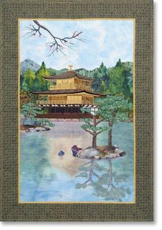 Kinkakuji Quilt with Highlights Thread by Superior Threads