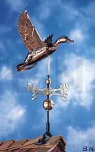 Atterrissage Canard cuivre weathervane