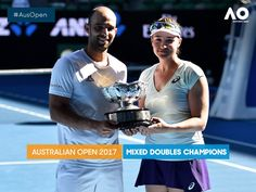 #AusOpen @AustralianOpen   Congratulations to our Aus Open 2017 Mixed Doubles champions Abigail Spears and Juan Sebastian Cabal.
