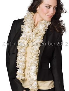 """Starbella Flash Scarf"" from our December 2012 issue"
