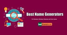 Use these best name generators to choose the perfect names to your blogs or startups and more. Best Seo Tools, Seo Specialist, Name Generator, Generators, Social Media Influencer, Blogger Tips, Seo Tips, Cool Names, Earn Money Online