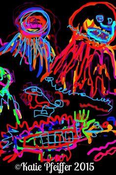 """""""Dreaming of the Sea"""" original digital drawing"""