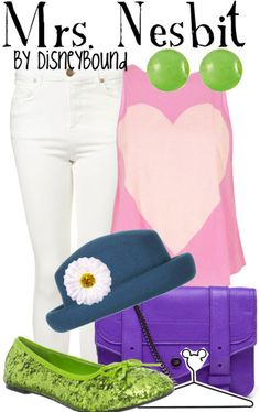 Nesbit from Toy Story inspired outfit by DisneyBound Disney Themed Outfits, Disney Bound Outfits, Disney Dresses, Disney Clothes, Cute Disney, Disney Style, Walt Disney, Disney Inspired Fashion, Disney Fashion