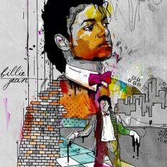 Beautiful!  #Billiejean #MichaelJackson #musician #art by: Inkquisitive Illustration