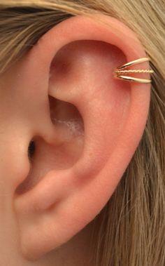 Oído del pun o delicada tres hilos con torsión por ChapmanJewelry