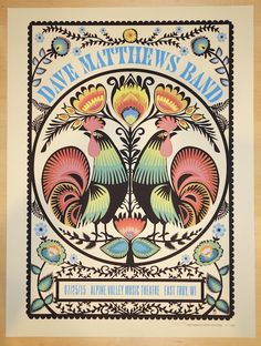 2015 Dave Matthews Band - Alpine I Silkscreen Concert Poster by Methane