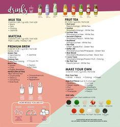 Bubble Tea Menu, Bubble Drink, Bubble Tea Shop, Bubble Milk Tea, Cafe Menu Design, Dream Tea, Fast Food Menu, Fruit Tea, Oolong Tea