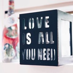 Love is all you need Life Motto, Love Is All, Mindset, Life Quotes, Clock, Lifestyle, Quotes About Life, Watch, Attitude