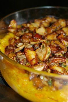 Paillasson de légumes et cèpes de Bordeaux .Ou bien alors juste des champignons de Paris. Winter Food, Kung Pao Chicken, Bordeaux, Veggies, Food And Drink, Cooking Recipes, Meals, Vegan, Healthy