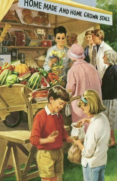 J. H. Wingfield - Home Made and Home Grown Stall - Peter & Jane - The Carnival - Ladybird